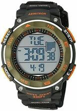 Armitron Men's Black Nylon Wrapstrap Watch,100 Meter WR, Chronograph, 40/8377DGN