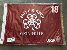 2017 US Open OFFICIAL (Erin Hills) SCREEN PRINT Flag Koepka Wins Woods Palmer