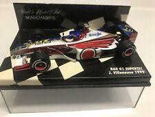 Minichamps Jacques Villeneuve 1999 #22 BAR 01 Supertec Zipper GP 1:43 MIB •