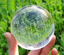 60mm Asian Clear Magic Crystal Healing Ball Sphere  Free shipping + stand