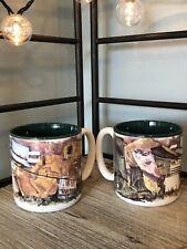 2 Gone Fishing Coffee Cup Mug Potpourri Press 1991 Fishing Rod Waders Tackle Box