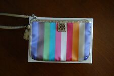 Authentic COACH Julia Legacy Stripe Small Wristlet | Multi-Color | 47510B SV/2M