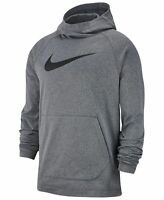 Nike Mens Hoodie Heather Gray Size XL Therma Fleece Basketball Pullover $55 254