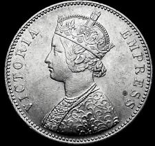 British India One Rupee 1885 Queen Victoria  re7 A47-752
