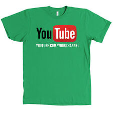 YouTube Channel CUSTOM URL Bella + Canvas Shirt - YOUR CHANNEL ON A SHIRT