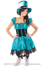 NEW Coquette Mad Hatter Costume w/Accessories Halloween M/L