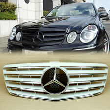 E63 AMG E350 White + Chrome Front Grille For Benz W211 E-Class 5 Fin 2007-2009