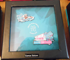 LONDON 2012 OLYMPICS 2 PIN BADGE VENUE SET CANOE SLALOM WINDOW BOX RIO