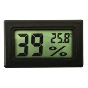 LCD Digital Temperature Humidity Meter Thermometer Hygrometer Indoor Black