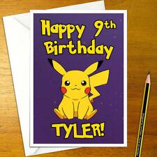 PIKACHU Personalised Birthday Card - A5 nintendo pokemon pokémon catch game