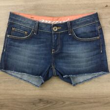 Mavi Cut Off Mid Rise Denim Shorts Size 30 Women's Actual W32 (BU16)
