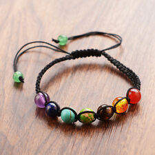 Yoga 7 Chakras Healing Balance Beads Gift Women Nature Stone Bracelets Crystal