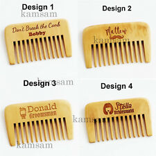 Personalized Wooden Rustic Hair Comb Beard Comb Bridesmaid Groomsmen gifts b