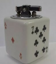 Vtg ATC Super Deluxe Automatic Japan Porcelain Poker Table Lighter