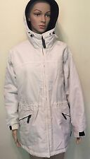 Womens PACIFIC TRAIL SMALL Khaki/Stone Black Parka Removable Liner Hooded Jacket