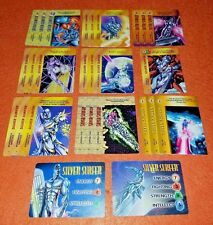 OVERPOWER Silver Surfer PLAYER SET 2 hero IQ 22 sp 3 Marvels Double Power Blast