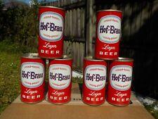 6 PACK OF HOF-BRAU BY GENERAL STRAIGHT STEEL OLD BEER CAN