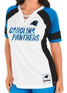 "Carolina Panthers Women's Majestic NFL ""Draft Me 3"" White Jersey Top Shirt"