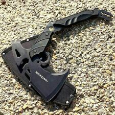 "13"" Survival Tomahawk Tactical Throwing Axe Sheath Battle Hatchet Knife Hawk"