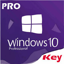 Genuine INSTANT MICROSOFT WINDOWS 10 PRO KEY 32 64 bit Activation License Key