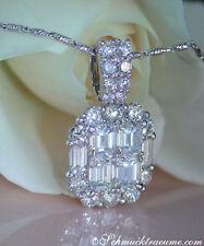 Reinheit IF Echte Diamanten-Halsketten & -Anhänger aus Weißgold