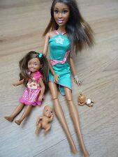 Barbie nero con Bambola Chelsea + 2 sorellina Bambole