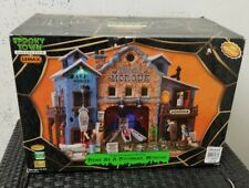 LEMAX SPOOKY TOWN DEAD AS A DOORNAIL MORGUE LIGHTED-SOUND-ANIMATED W/BOX