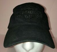 Harley Davidson LOGO Authentic 2003 Adjustable Hat Cap Black Biker Adjustable