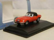 Oxford Diecast 1:76/OO Jaguar E Type DHC Closed Carmen Red 76ETYP011