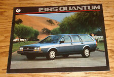 Original 1985 Volkswagen VW Quantum Sales Brochure 85