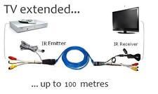 AV video audio extender IR Repeater Sender transmitter Via Cat5/6e For STB DVD
