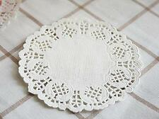 "100x Paper Lace Doilies Small 5.5"" 14cm Wedding Party Decorations Doily Cake"