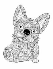 Blank Book Journal : French Bulldog Frenchie Zentangle Cover Diary Notebook:...
