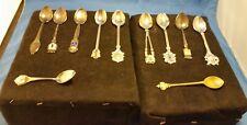 Lot of 10 Vintage Souvenir/Travel/ Miniature Spoons