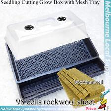 Hydroponic Propagation Combo Clone Seedling Grow System Grodan Rock Wool Sheet