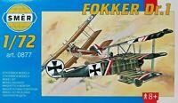 SMER FOKKER DR.1,Dreidecker WW I,Richthofens Flugzeug, Bausatz 1:72,0877,OVP,NEU