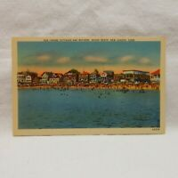 POSTCARD, COTTAGES AND BATHERS, OCEAN BEACH, NEW LONDON, CONNECTICUT