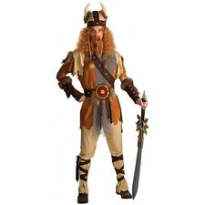 Mens Viking Warrior Costume Adult Barbarian Nordic Game Of Thrones Fancy Dress