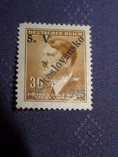 WWII German / Czech Rare Postwar 1945 overprint 30 Hitler Stamp 22