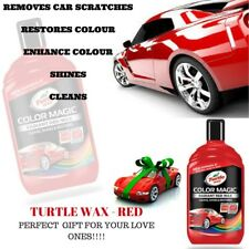 TURTLE WAX COLOR MAGIC BOTTLE CAR POLISH NEW FORMULA SCRATCH REMOVER - RED