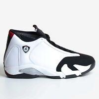 Air Jordan 14 Retro White 2014 Red Black Toe Mtllc Silver OG DS 487471-102