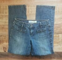 Ann Taylor Loft Womens Size 8 Denim Straight Fit Jeans Front Flap Pockets
