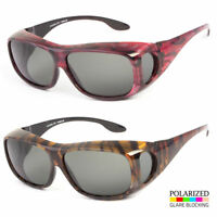 New POLARIZED FIT OVER SUNGLASSES COVER ALL GLASSES DRIVE FISHING WRAP DRIVING