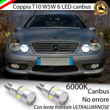 COPPIA LUCI DI POSIZIONE 6 LED T10 CANBUS 6000K MERCEDES CLASSE CLK W209