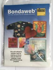 Vilene Bondaweb Paper Backed Fusible Web Iron On Transfer Adhesive Applique Glue