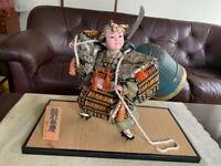 Japanese Traditional Antique Vintage Samurai doll warrior Figure  Armor BENKEI