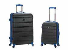 Rockland Luggage 20 Inch and 28 Inch 2 Piece Expandable ABS Spinner Set