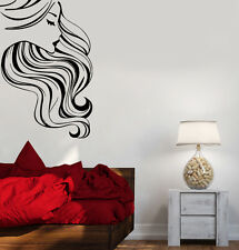 Vinyl Decal Beauty Salon Hair Barber Beautiful Woman Wall Stickers (ig1706)