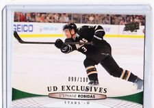 11-12 2011-12 UPPER DECK STEPHANE ROBIDAS UD EXCLUSIVES /100 398 DALLAS STARS