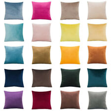 Solid Color Velvet Cushion Cover Simple Soft Pillow Case Sofa Home Decorative